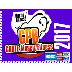 Cotisation 2017 Muscu / Fitness CPB - paiement CB