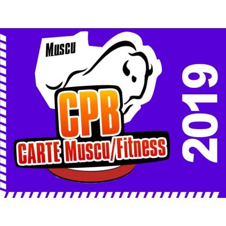 Cotisation 2019 Muscu / Fitness CPB